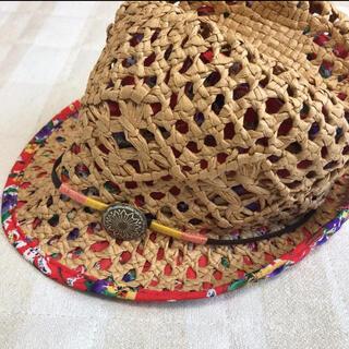 ロキシー(Roxy)のROXY 麦わら帽子 ストローハット 中折れ帽(麦わら帽子/ストローハット)