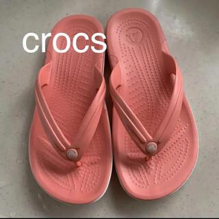 crocs - ☆新品☆ crocs クロックス ビーチ サンダル W 6 23.5ピンク