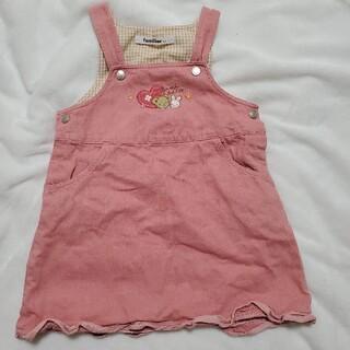 familiar - familiar ファミリア ジャンパースカート ワンピース ピンク