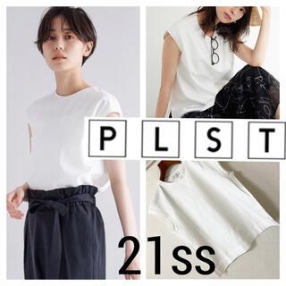 PLST - 21ss 極美品◆PLST プラステ◆クルーネック フレンチスリーブ Tシャツ