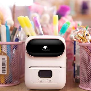 新品 感熱ラベルプリンター  Phomemo M110 スマホ対応です ピンク