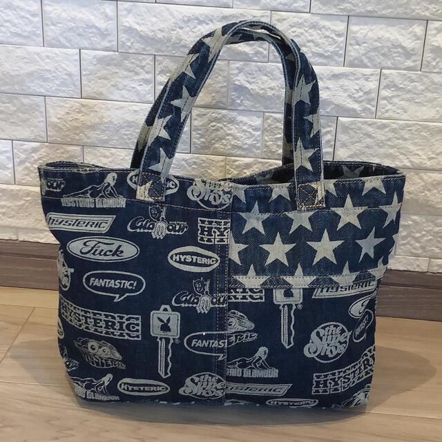 HYSTERIC GLAMOUR(ヒステリックグラマー)のヒステリックグラマー デニムバッグ美品 レディースのバッグ(トートバッグ)の商品写真
