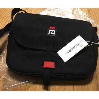 マリメッコ(marimekko)の新品 未使用 marimekko コットンキャンバス ショルダーバック 黒(ショルダーバッグ)
