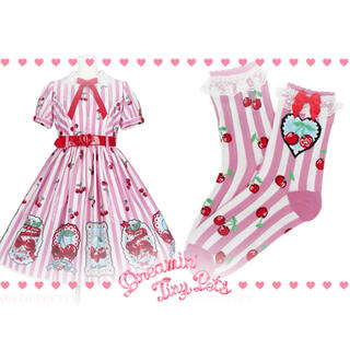 Angelic Pretty - angelic pretty Cherry Stampワンピース