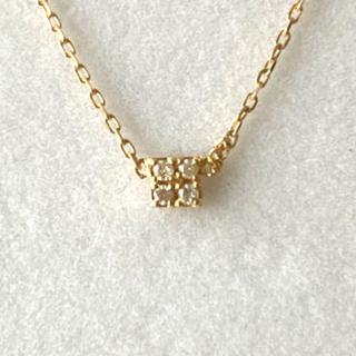 agete - アガット K18イエローゴールドダイヤモンドネックレス agete