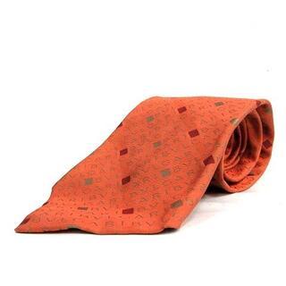 ブルガリ(BVLGARI)のブルガリ BVLGARI レギュラータイ ロゴ 総柄 シルク オレンジ(ネクタイ)