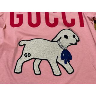 グッチ(Gucci)の●GUCCIグッチラム柄ビジュー付きピンクTシャツXXS新品(Tシャツ(半袖/袖なし))