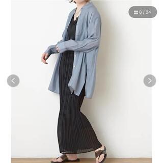 ナイスクラップ(NICE CLAUP)のシアーバンドカラーシャツ(シャツ/ブラウス(長袖/七分))