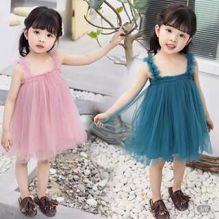 プティマイン(petit main)の韓国 チュール ドレス(ワンピース)