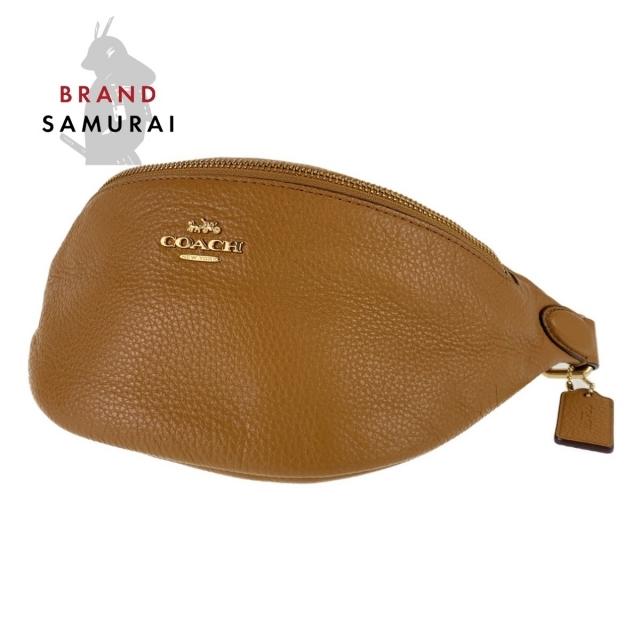 COACH(コーチ)のコーチ ブラウン レザー ボディバッグ ウエストバッグ レディース 104545 レディースのバッグ(ショルダーバッグ)の商品写真