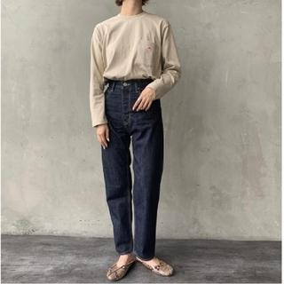 DANTON - ダントン 長袖ポケットTシャツ ベージュ 34