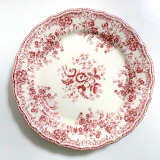 ZARA HOME - アンティーク プレート 花柄 レッド / パスタ  デザート皿