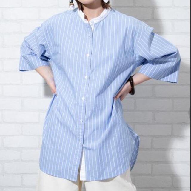 coen(コーエン)のすぱ様専用 coen ストライプシャツ レディースのトップス(シャツ/ブラウス(半袖/袖なし))の商品写真
