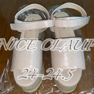 one after another NICE CLAUP - ナイスクラップ 厚底サンダル ライトピンク 24-24.5cm