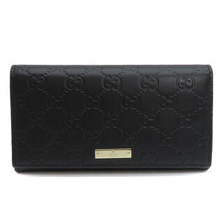 Gucci - グッチ  長財布  グッチシマ 二つ折り 244946  ブラック