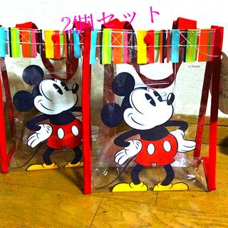 Disney - 💕ミッキーマウスビニールバッグ サンキスト 😄2個セット💕