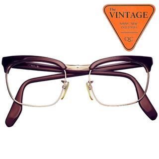美品VIENNALINE ヨーロッパヴィンテージ眼鏡ブローフレームクラブマスター(サングラス/メガネ)