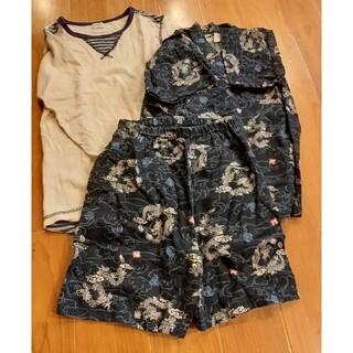 コンビミニ(Combi mini)の古着 120cm  男の子Tシャツ・甚平上下セット(Tシャツ/カットソー)