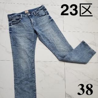 ニジュウサンク(23区)の23区 デニム ダメージジーンズ 38 レディース 古着女子 服 ストレッチ(デニム/ジーンズ)