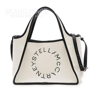 Stella McCartney - ステラマッカートニー トートバッグ サークルロゴ 2WAY キャンバス ホワイト