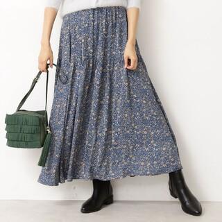 エヌナチュラルビューティーベーシック(N.Natural beauty basic)の花柄 スカート 青系(ロングスカート)