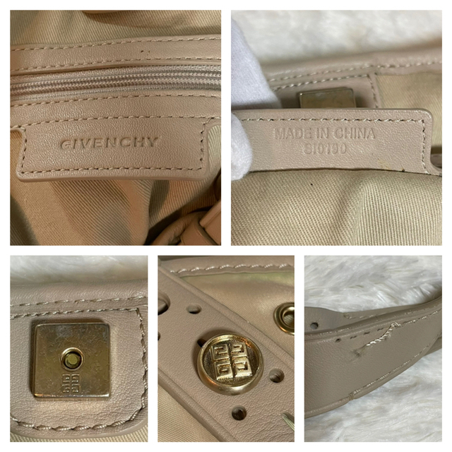 GIVENCHY(ジバンシィ)の本物 ジバンシィ ハトメ ニューサッカ パンチング ショルダーバッグ 鞄  レディースのバッグ(ショルダーバッグ)の商品写真