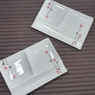 ハサミ(HASAMI)の波佐見焼 箸置き付き小皿2枚セット(食器)