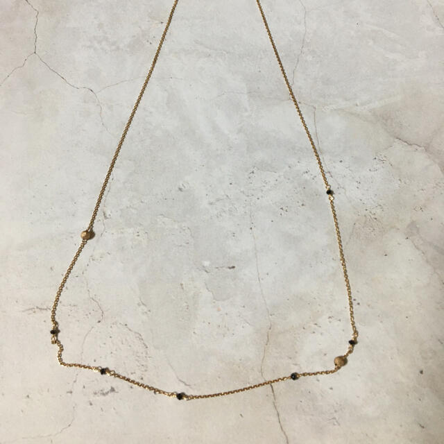 agete(アガット)のアガット ブラックダイヤモンドネックレス レディースのアクセサリー(ネックレス)の商品写真