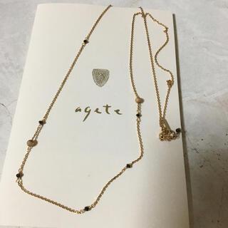 agete - アガット ブラックダイヤモンドネックレス