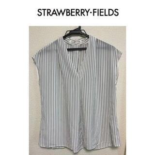 STRAWBERRY-FIELDS - ストロベリーフィールズ ストライプブラウス