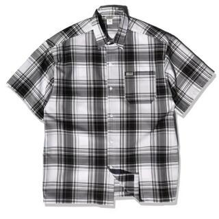カルトップ(CALTOP)の【未使用】CALTOP キャルトップ 半袖チェックシャツ ブラック 黒 USA(シャツ)