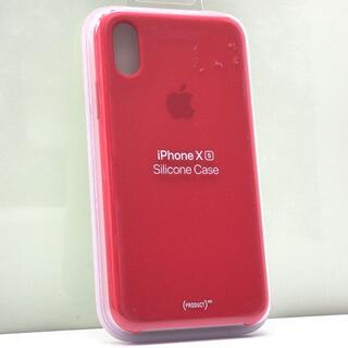 iPhone XS 用 Apple純正 シリコンケース レッド(iPhoneケース)