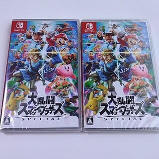 ニンテンドースイッチ(Nintendo Switch)の新品未開封 大乱闘スマッシュブラザーズ  2本セット 送料無料(家庭用ゲームソフト)