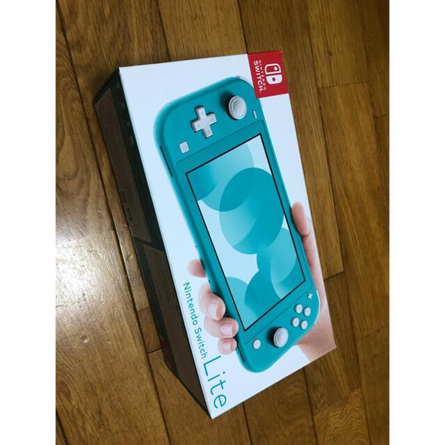 任天堂(ニンテンドウ)の【新品未使用】Nintendo switch Lite 任天堂 グリーン ブルー エンタメ/ホビーのゲームソフト/ゲーム機本体(家庭用ゲーム機本体)の商品写真