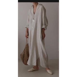 Ron Herman - argue STRIPE LINEN SOLODITY SHIRT DRESS