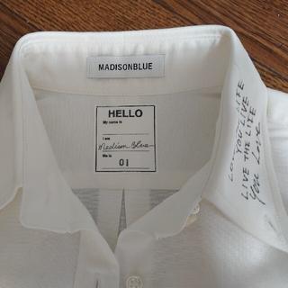 MADISONBLUE - MADISONBLUE MESSAGE シャツ