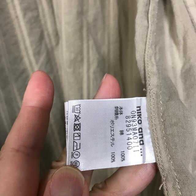 niko and...(ニコアンド)のニコアンドゆったりメンズniko and半袖シャツ着丈74身幅50サイズ4 メンズのトップス(シャツ)の商品写真