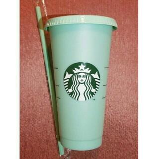 スターバックスコーヒー(Starbucks Coffee)の残2個!限定品! スターバックス カラーチェンジングリユーザブルコールドカップ(タンブラー)