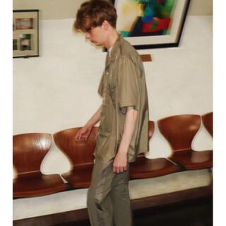 COMOLI - stein キュプラオープンカラーシャツ