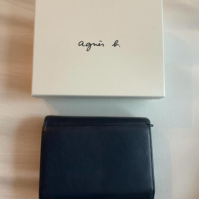 agnes b.(アニエスベー)の【タグ箱付属】アニエスベー 折り財布 ネイビー レディースのファッション小物(財布)の商品写真