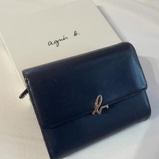 agnes b. - 【タグ箱付属】アニエスベー 折り財布 ネイビー