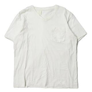 エヌハリウッド(N.HOOLYWOOD)のN.HOOLYWOOD 布帛切替 コットンVネックポケットTシャツ 半袖(Tシャツ/カットソー(半袖/袖なし))