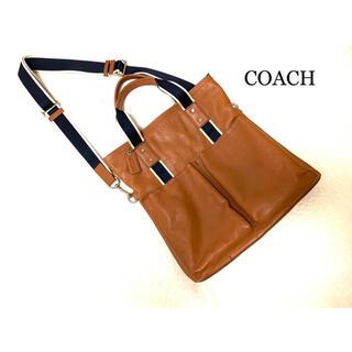 コーチ(COACH)のCOACH コーチ 2way トートバッグ ショルダーバッグ キャメル メンズ(トートバッグ)