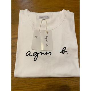 agnes b. - アニエスベー Tシャツ Lサイズ クルーネック 白 半袖 レディース