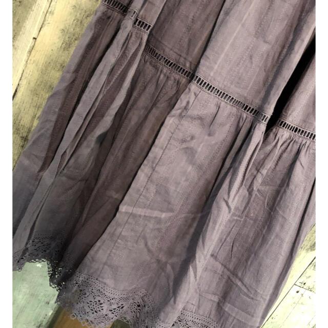 who's who Chico(フーズフーチコ)のchico*梯子レース切替ティアードスカート*ラスト2 レディースのスカート(ロングスカート)の商品写真