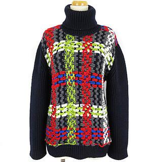 ディースクエアード(DSQUARED2)のディースクエアード ニット セーター 長袖 タートル ハイゲージ ネイビー XS(ニット/セーター)