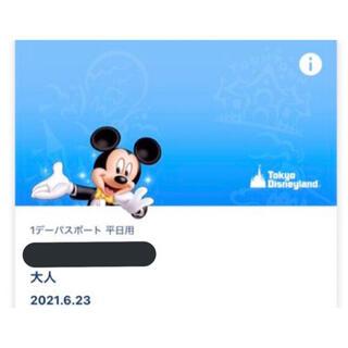 Disney - 🎈バルーングッズ初日🎈ディズニー ランド チケット 入園済み