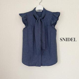 snidel - SNIDEL スナイデル ボウタイノースリブラウス