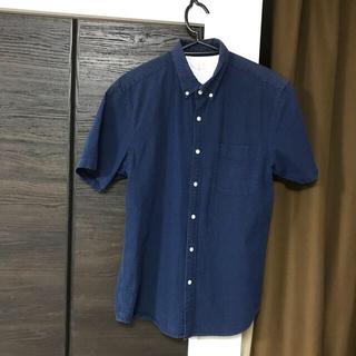 MUJI (無印良品) - 無印良品mujiメンズゆったり半袖シャツ着丈75身幅55サイズXL