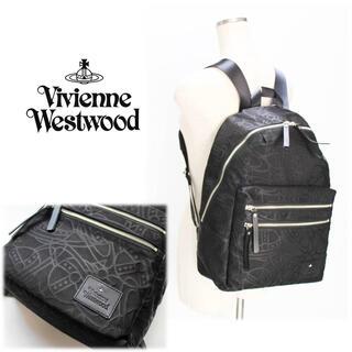 Vivienne Westwood -  《ヴィヴィアンウエストウッド》新品 ラインORBエンボス リュックサック